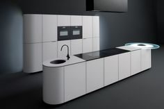 Lacquered tempered glass kitchen with island ARGENTO VIVO by GeD cucine by GeD Arredamenti design Roberto Pezzetta