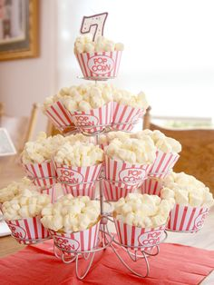 cupcake popcorn wrapper- so cute for birthdays or summer movie nights! FREE printable!