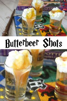 This Harry Potter party recipe is for adults. With only two main ingredients these after dinner dessert drinks will be a huge hit! Make the adult Harry Potter fan smile with these yummy butterbeer treats. Harry Potter Adult Party, Harry Potter Motto Party, Harry Potter Cocktails, Harry Potter Marathon, Harry Potter Halloween Party, Harry Potter Food, Harry Potter Birthday, Halloween Snacks, Harry Potter Recipes