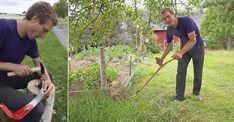 Experten visar tekniken: Lär dig slå gräsmattan med lie Weed, Outdoor Power Equipment, Garden, Lawn And Garden, Gardens, Outdoor, Home Landscaping, Tuin