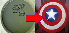 DIY Captain American Shield template America U.S.A. Pride USA Costume Comic.... you could so this with any shield i guess