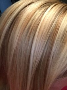 Blonde highlights & lowlights