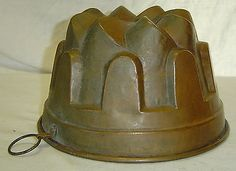 Antique Victorian Copper Mold Mould Aspic Pudding Jelly Tin Lined  Great Display