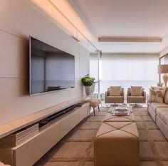 37 Ideas for living room decor glam home Narrow Living Room, Living Room Tv Unit, Home Living Room, Living Room Decor, Living Room Colors, Living Room Designs, Room Interior, Interior Design, Muebles Living