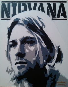 Kurt Cobain Nirvana Stencil Art Graffiti PopArt MAKE KOKS
