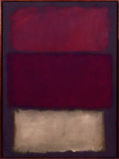 "betweentheseaandthesky: "" Mark Rothko, ""Untitled,"" 1960 """