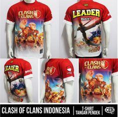 Kaos COC CLash Of Clans Indonesia By. Qita Desain QDR Online Shop: 32FC121F