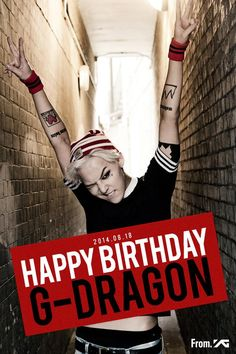 HAPPY BIRTHDAY G-Dragon ♕ #BIGBANG