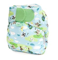 Tot Bots Teenyfit V4 Nappy. For teeny newborns. Manufactured in UK.