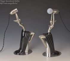 Art deco lámpa / Art deco lamp Debreceni Lámpagyár, Made from wood and metal Art Deco Lamps, Wood And Metal, Dancer, Accessories
