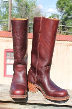 Women's Leather Frye Campus BOOTS size 6 B made in USA #Frye #CowboyWestern