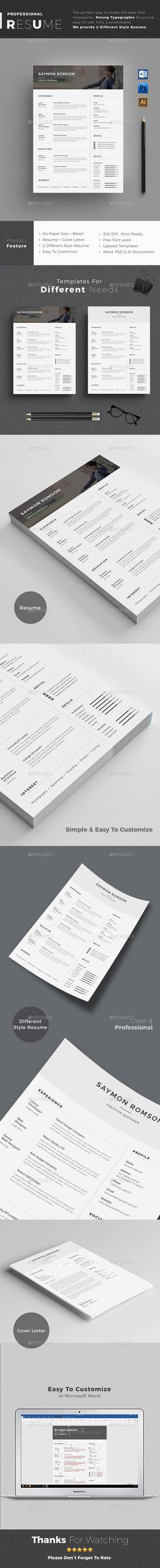 Sewon Clean Resume Template Resumes Stationery