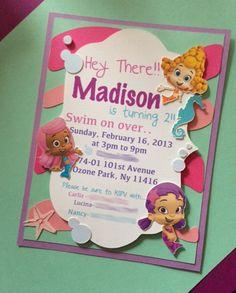 Bubble Guppies Invitations by CraftedwLovebyCarliz on Etsy