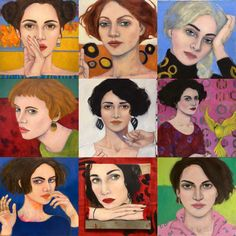 Art by AliceRudolf: top 9 of 2019 Art And Illustration, Painting For Kids, Figure Painting, Self Portrait Art, Matisse Paintings, Woman Drawing, Watercolor Sketch, Art Deco, Portraits
