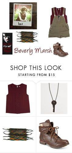 """""""Beverly Marsh (2017)"""" by losers-clubs-eggos011 ❤ liked on Polyvore featuring RED Valentino, The Giving Keys and ZiGiny"""