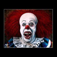 """Impression 11 x 14""""- Pennywise - Clown Stephen King horreur Fantasy drame Comédie classique Monster créature Halloween effrayant tueur en série Pop Art"""