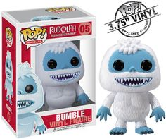It's Bumble the Abominable Snowman in stylized form!  Collect Bumble, Rudolph and all his friends. They're part of the POP! vinyl figure craze.