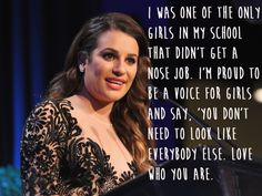 Lea Michele. | 29 Celebrities Who Will Actually Make You Feel Good About Your Body