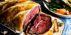 Beef Wellington.  Serves 6...