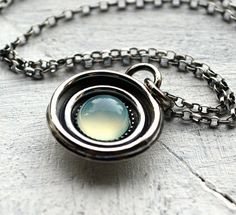 Aqua Infusion Necklace by Metal Bliss Studio on Etsy