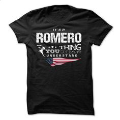 If your name is ROMERO then this is just for you - #tshirt design #tshirt estampadas. MORE INFO => https://www.sunfrog.com/Names/If-your-name-is-ROMERO-then-this-is-just-for-you-29829393-Guys.html?68278
