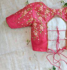tie-up blouse, blouse designs, designer blouse Blouse Back Neck Designs, Kids Blouse Designs, Hand Work Blouse Design, Simple Blouse Designs, Stylish Blouse Design, Maggam Work Designs, Pattu Saree Blouse Designs, Aari Embroidery, Blouse Styles
