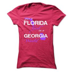 Just A Florida Girl In A Georgia World T-Shirts, Hoodies. SHOPPING NOW ==► https://www.sunfrog.com/Valentines/-28FLJustTim002-29-Just-A-Florida-Girl-In-A-Georgia-World-HotPink-Ladies.html?id=41382