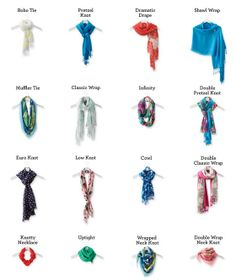 Twist, Tie, Love! Here are sixteen simple ways to tie a scarf and elevate your look. #LandsEnd