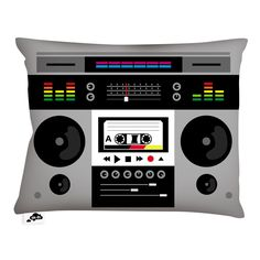 eu.Fab.com   Ghetto Blaster Cushion 50x35