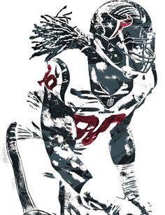Jadeveon Clowney HOUSTON TEXANS PIXEL ART Art Print by Joe Hamilton. Houston Texans Football, Houston Oilers, Saints Football, Football Art, Football Players, Sports Theme Classroom, Joe Hamilton, Jj Watt, Football Design