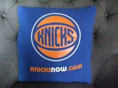 One of a kind New York Knicks Pillow by THEPASTUREROAD on Etsy