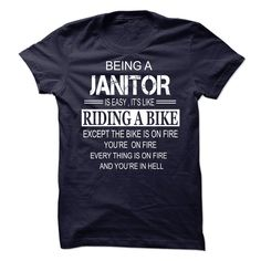 JANITOR T-Shirts, Hoodies. GET IT ==► https://www.sunfrog.com/No-Category/JANITOR-68283079-Guys.html?id=41382