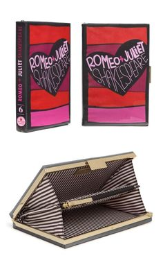 Kate Spade- Romeo & Juliet Book Clutch perfect for weddings...