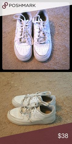 Boys Nike Air Force 1's Boys Nike Air Force Ones. Size 6.5. In great condition only needs to be washed. Nike Shoes Sneakers