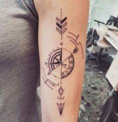The post Geometric compass tattoo appeared first on Best Tattoos. Compass Tattoo Forearm, Compass Tattoo Design, Forearm Tattoos, Body Art Tattoos, Geometric Tattoo Forearm, Trendy Tattoos, Tattoos For Guys, Small Tattoos, Sextant Tattoo