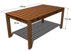 Simple Dining Table plans from ana-white - option B Coffee Table Plans, Diy Dining Table, Diy Furniture Plans, Furniture Plans, Outdoor Wood Table, Outdoor Dining, Table Plans, Outdoor Coffee Tables, Diy Outdoor Furniture