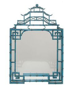 Blue Metal Wall Mirror