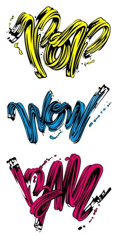 Lichtenstein Tribute By Alex Trochut Types Of Lettering, Lettering Design, Typography Love, Typography Inspiration, Typography Letters, Graphic Design Typography, Graphic Design Inspiration, Type Design, Design Art
