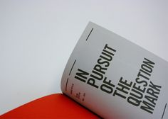 In Pursuit of the Question Mark by Pete Rossi, via Behance