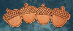 SWEET SET OF 4 CUTE FELT ACORN COASTERS! FALL THANKSGIVING HARVEST - http://collectibles.goshoppins.com/holiday-seasonal/sweet-set-of-4-cute-felt-acorn-coasters-fall-thanksgiving-harvest/
