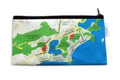BRASIL MAP pencil case / Souvenir from Rio and Salvador by efratul
