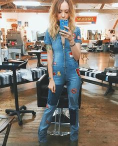 @leahhofff looking smoking hot in the jumpsuit she got from us #babetown