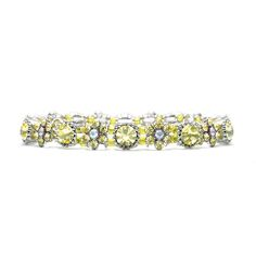 Stretch Bracelet with Crystal Daisies