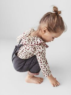ZARA - KIDS - FLORAL RUFFLED PETER PAN COLLAR SHIRT