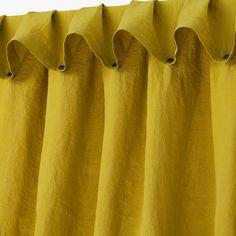 barefootstyling.com Matière : 100% lin (200g/cm2) finition lavée douce et subtilement froissée. Grâce au système easyclip de boutons pression, ce rideaux Lissoy se fixe autour de la barre sans ôter celle-ci.