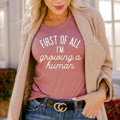 Newly Pregnant, Pregnant Model, Funny Pregnancy Shirts, Pregnancy Announcement Shirt, Early Stages Of Pregnancy, Pregnancy Progression, Being Human Shirts, Bump