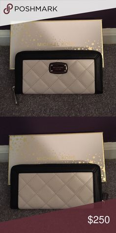 MMK HAMILTON LEATHER QUILT NWT Opticwhite/Black MMK HAMILTON LEATHER QUILT NWT Opticwhite/Black. MSRP $168 + tax. Gift box included. MICHAEL Michael Kors Bags Wallets