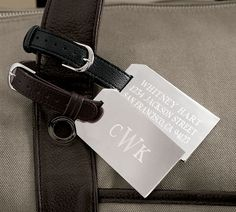silver plated luggage tags