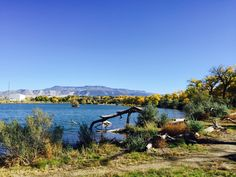 Grand Junction's Corn Lake part of the James M. Robb State Parks.  November 2015