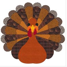 (7) Name: 'Quilting : Thanksgiving Turkey
